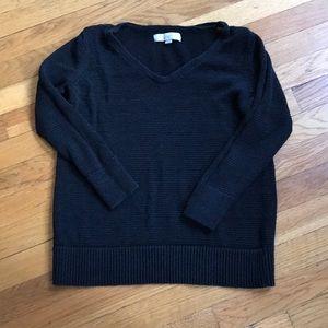 Loft Black Stitched Sweater